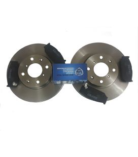 Brake Discs and Pads Front 2004 to 2010